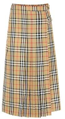 Burberry Check wool skirt