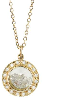 Moritz Glik Circle Dome with Diamonds Necklace