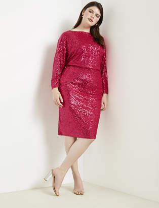 Sequin Dolman Sleeve Dress