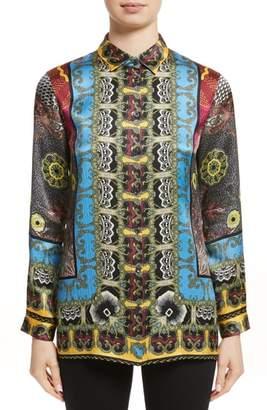 Etro Print Hammered Silk Shirt