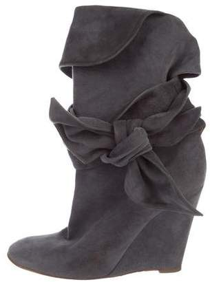 Chloé Suede Wedge Boots