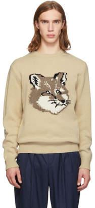 MAISON KITSUNÉ Off-White Fox Head Sweater