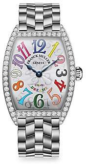 Franck Muller Women's Cintree Curvex 39MM Color Dreams Stainless Steel & Diamond Bracelet Watch
