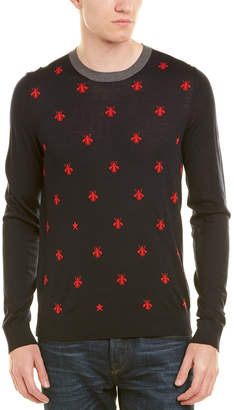 Gucci Bees & Stars Wool Crewneck Sweater