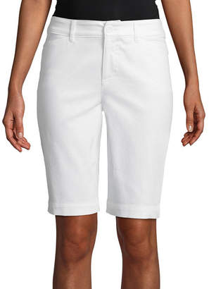 ST. JOHN'S BAY SJB Secretly Slender 11 Bermuda Shorts