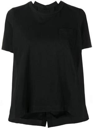 Sacai contrast panel T-shirt