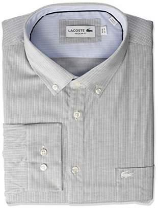 Lacoste Men's L/S Button Down Collar Regular FIT POPLIN City Woven Shirt