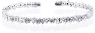 Suzanne Kalan 18K white gold and diamond Fireworks Classic baguette bangle