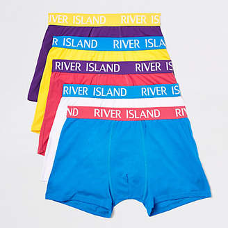 River Island Mens Bright Blue RI branded trunks multipack c4dc744c6
