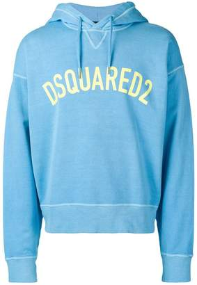 DSQUARED2 boxy-fit logo hoodie