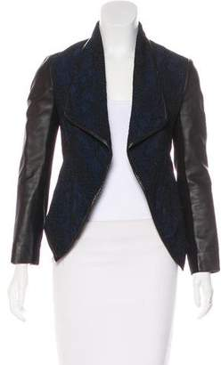 Yigal Azrouel Leather Trimmed Lace Jacket