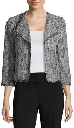 Liz Claiborne Drape Front Tweed Jacket