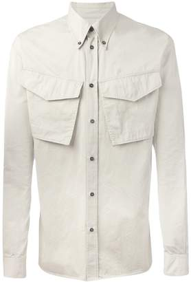 DSQUARED2 crinkled flap pocket shirt