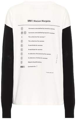 MM6 MAISON MARGIELA Printed cotton and wool top