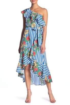 Flying Tomato One Shoulder Ruffled Dress
