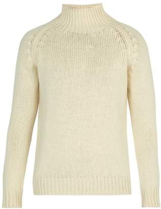 Connolly - Weekend High Neck Cashmere Sweater - Mens - Ecru