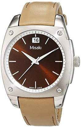 Misaki Women's Quartz Watch with Black Dial Analogue Display Quartz Leather Qcrwm C98 W Green