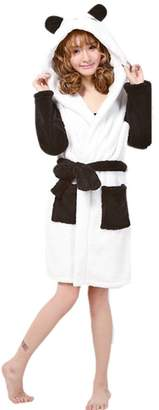 4e6a67b069 Crazy lin Women s Bathrobe Collar Robe Ladies Dressing Gown Animal Cosplay  Nightwear Costume
