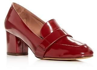 Tabitha Simmons Women's Mika Leather Block-Heel Loafers