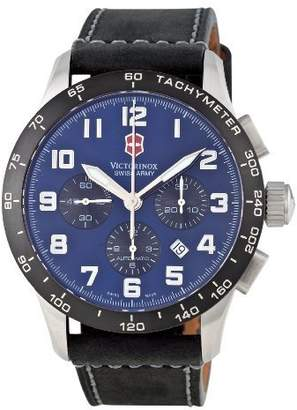 Victorinox Men's 'Professional Airboss' Automatic Stainless Steel and Leather Sport Watch