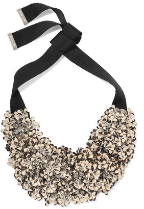 Etro - Bead And Crystal Necklace - Black $685 thestylecure.com