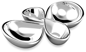Nambe 2-Piece Infinity Serving Trays