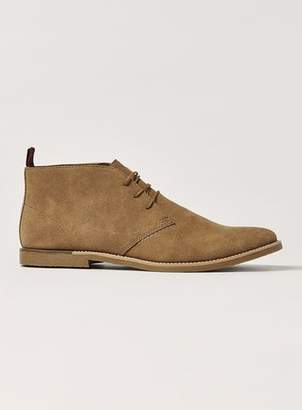 Topman Mens Brown Desert Boots