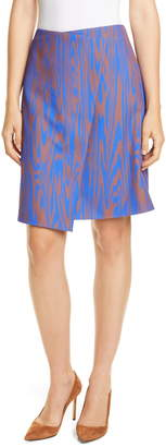 BOSS Vaprinta Asymmetrical Hem Skirt
