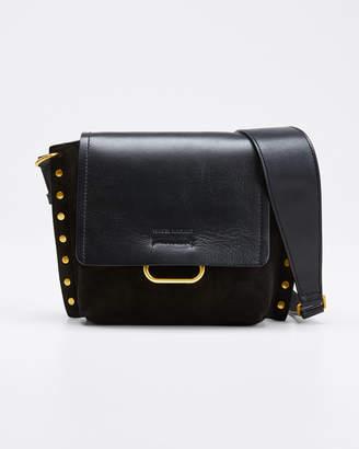 Isabel Marant Kleny Leather Studded Shoulder Bag