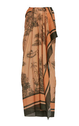 Johanna Ortiz Inherited Intuition Printed Cotton-Voile Pareo Size: 2