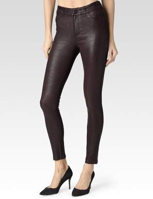 Paige Verdugo Ankle Pant - Black Cherry Leather