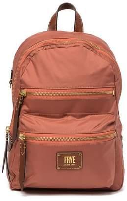Frye Ivy Nylon Leather-Trimmed Backpack