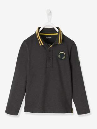Vertbaudet Long-Sleeved Polo Shirt for Boys