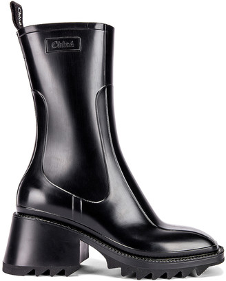 Chloé Betty Boots in Black | FWRD