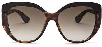 Christian Dior Women's Soft 2 Oversized Round Sunglasses, 55mm