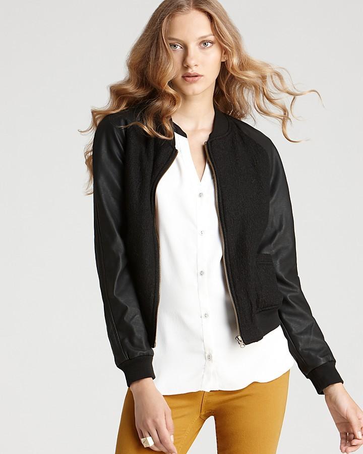 Quotation: Sanctuary Jacket - Varsity Bouclé with Vegan Leather