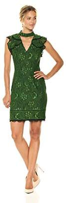 Adelyn Rae Women's Delilah Woven Lace Sheath Dress W/Ruffle