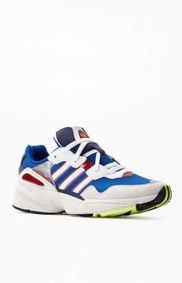 adidas White & Royal Yung-96 Shoes