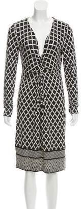Tory Burch Abstract Printed Silk Dress
