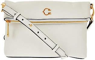 C. WonderC. Wonder Pebble Leather Foldover Crossbody Handbag