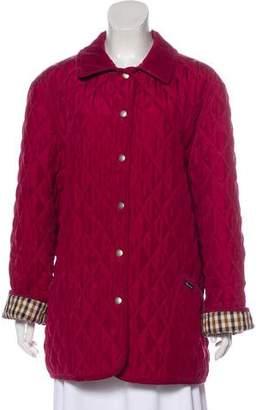 Aquascutum London Silk Quilted Coat
