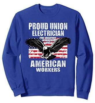 American Eagle Electrician Union Worker Pride Sweatshirt
