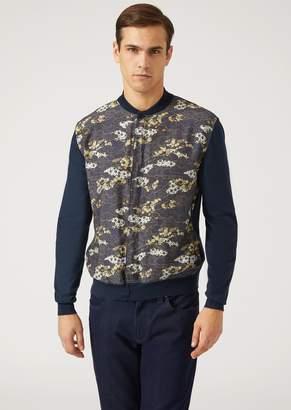Emporio Armani Cardigan In Light Cotton And Modal Knit