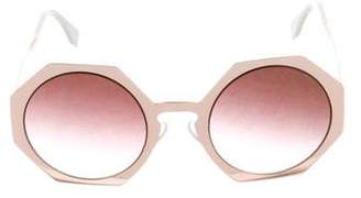 Fendi Round Metallic Sunglasses