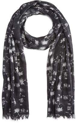 John Varvatos Star USA Abstract Skull Print Scarf $98 thestylecure.com