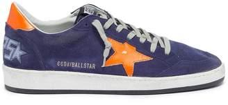 Golden Goose 'Ball Star' slogan print counter suede sneakers