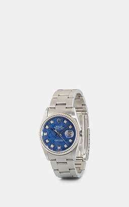 Rolex Stephanie Windsor Time Men's 2004 Oyster Perpetual Datejust Watch - Silver