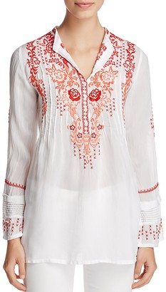 Johnny Was Ross Embroidered Tunic $234 thestylecure.com