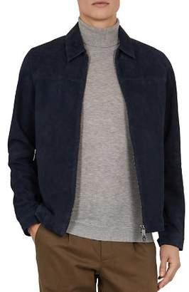 Ted Baker Salza Suede Zip-Up Jacket