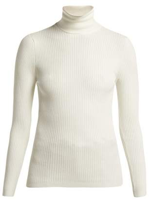 Fusalp - Ancelle Ribbed Knit Roll Neck Sweater - Womens - White